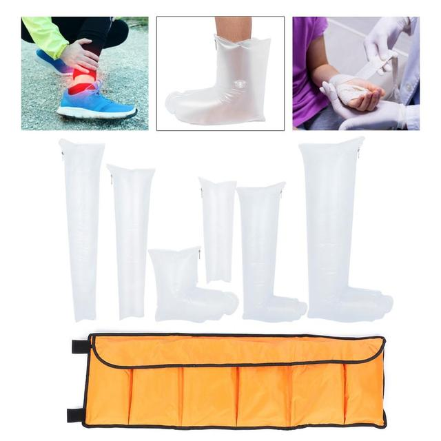 7pcs Leg Arm Inflatable Air Splint Set Outdoor Camping First Aid Emergency Kit Arm Air Splint