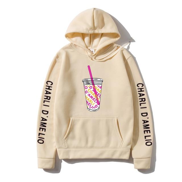 Harajuku Ice Coffee Splatter Hoodies Sweatshirts Men and Women oversized hoodie Charli DAmelio Pullover Unisex Costume Tracksuit 6