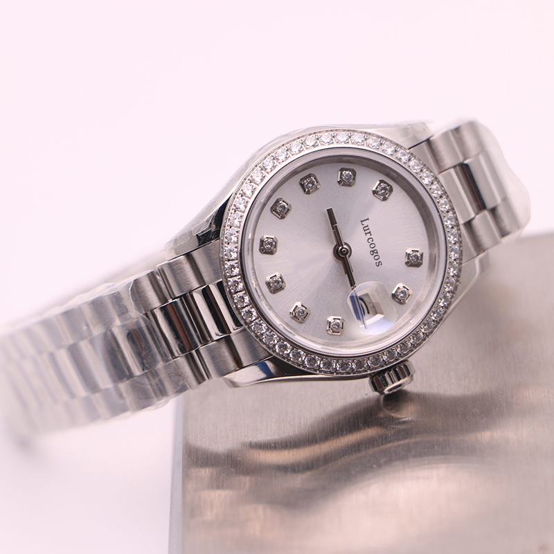 2020 New Women Watch Lady Size 26mm Date Girl Gifts Sapphire Glass Wristwatch Automatic Mechanical Movement Stainless Solid Clas