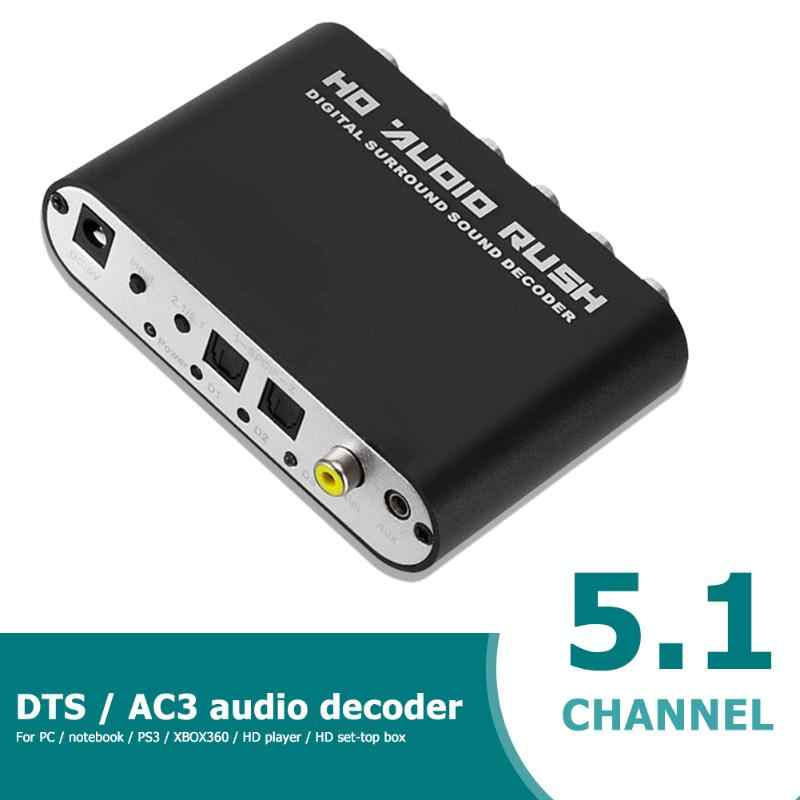 5 1 Ch Ac3 Dts Dolby Hd Audio Decoder Coaxial Digital To Analog Rca Adapter Computer Components And Hardware Sound Cards Aliexpress