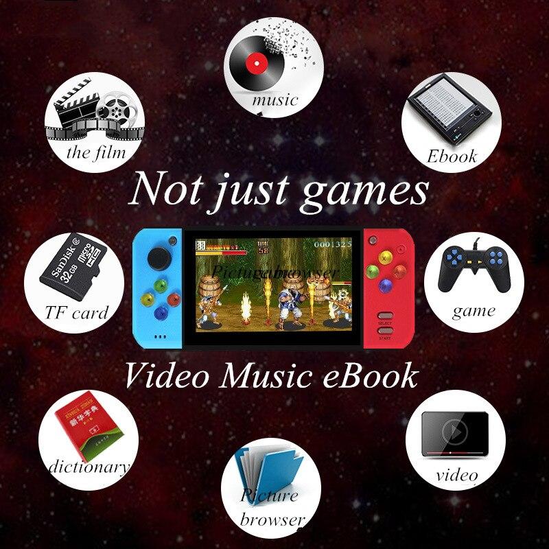 PSP משחק ניידות ארקייד קונסולת 40GB 5.0 אינץ MP5 משחק וידאו נגן מובנה 3000 רטרו קלאסי משחק עבור SNE / GBA / SFC / SMD / ZIP PSP (3)