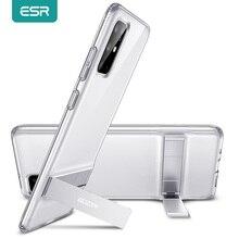 ESR telefon kılıfı için Samsung Galaxy S20 artı S20 Ultra Metal Kickstand dikey TPU tampon için kapak standı S20 Ultra kılıf Funda