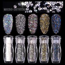 Nail Accessories 8 Colors Symphony Fairy Nail Sticky Diamond Transparent Micro Diamond Nail Art Decoration Broken Diamond DIY