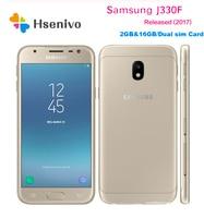Original Samsung Galaxy J3 (2017) J330F 5.0 Inches Quad core 2GB RAM 16GB ROM LTE NO NFC 13MP Camera Dual SIM Unlocked Cellphone