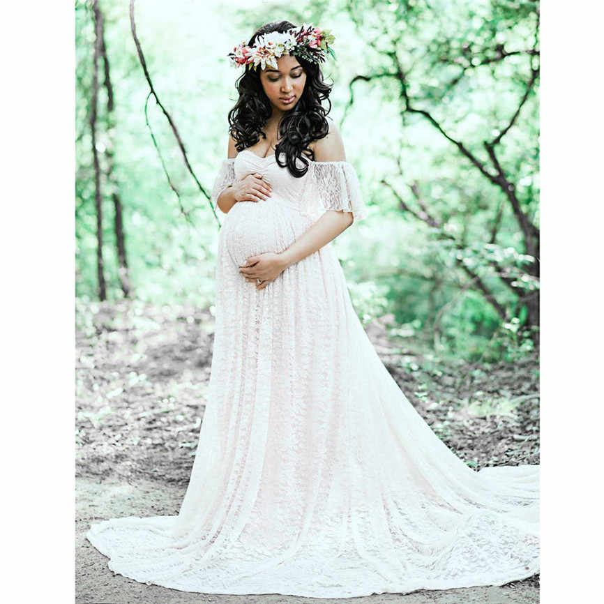 Long Maternity Photography Props Pregnancy Dress Photography Maternity Dresses For Photo Shoot Pregnant Dress Lace Maxi Gown Aliexpress