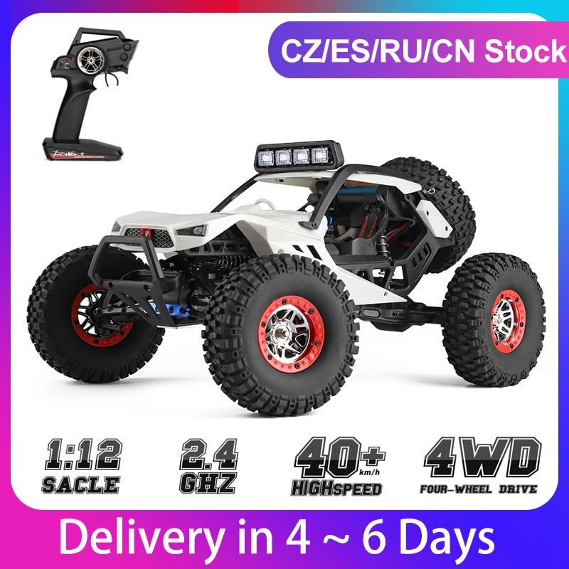 WLtoys XK 12429 1:12 RC araba paletli 40km/saat 4WD 2.4G elektrikli araba kafa lambaları mükemmel ekipman RC Off-Road araba hediye oyuncak çocuk