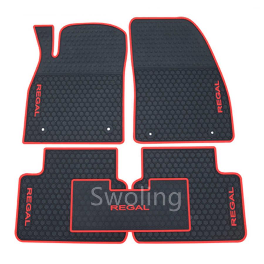 SJ ajuste personalizado todo el tiempo coche esteras para piso delantera y trasera FloorLiner Auto pie almohadillas alfombra antideslizante para BUICK Regal 2009 10 11-2017