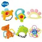 HOLA 1106 & 1109 bébé Fitness jouets main cloche et sûr dessin animé bébé hochet jouets gratuit mignon Animal dinosaure infantile anneau bricolage enfant en bas âge