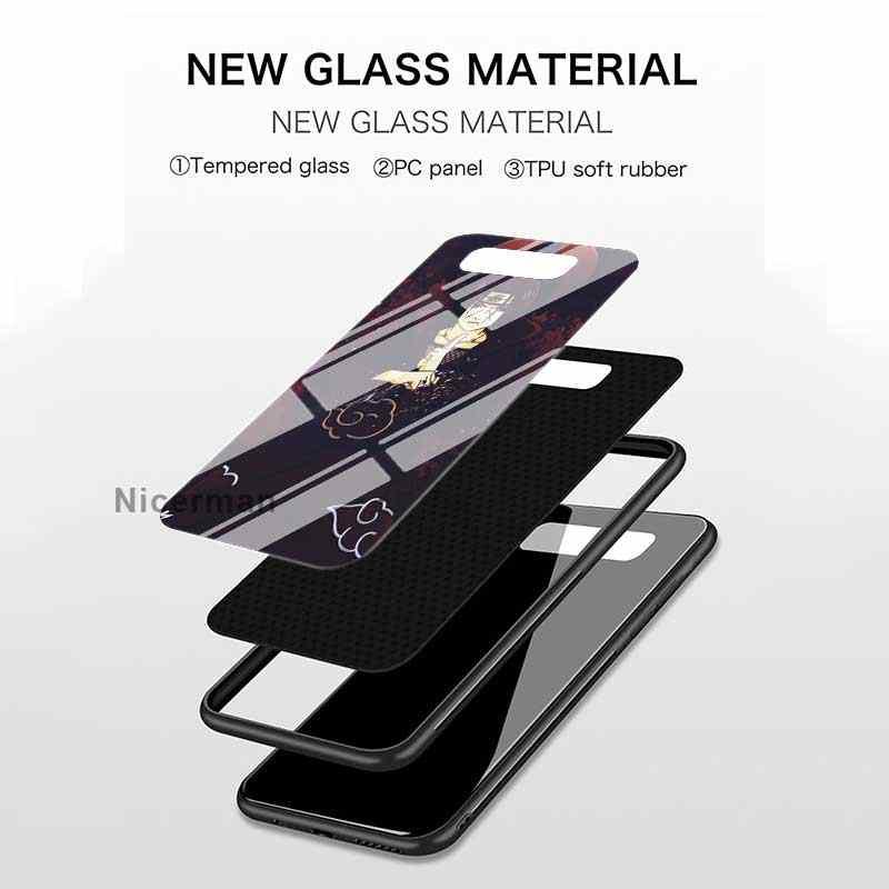 Naruto itachi uchiha estojo para samsung galaxy s20 ultra s10e s10 5g s9 s8 mais nota 10 9 vidro temperado telefone coque