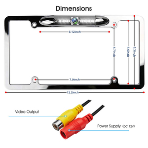 Image 5 - YuanTing License Plate Frame Backup Rear View Reversing Camera Parking Assist Night Vision Waterproof 170 Viewing Angle 7 LEDs