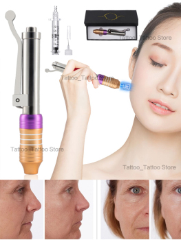 High quality Hyaluronic Injection Pen Massage Atomizer Pen Kit For Professional High Pressure Anti Wrinkle Water Syringe Needle 2019 new 0 5ml free tariff to germany hyaluron pen atomizer wrinkle removal water syringe needle free injection needless ampule