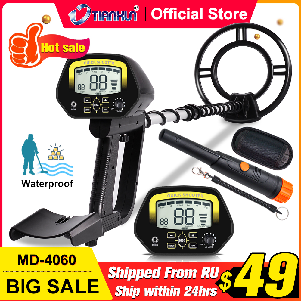 Waterproof Coil Display Amp Adjustable Metal High For  Accuracy TIANXUN Adults Kids With Metal Detector LCD Search Detectors