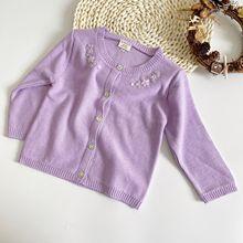 Sweater Clothing Newborn Girls Baby Winter Spring Autumn Flower-Neck Long-Sleeve Knit
