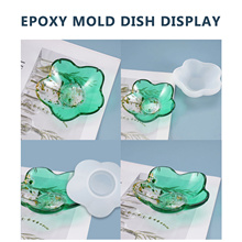 Flower Compote Coaster Resin Mold Set DIY Handmade Crystal Epoxy Mold Compote Tray Petal Silicone Mold