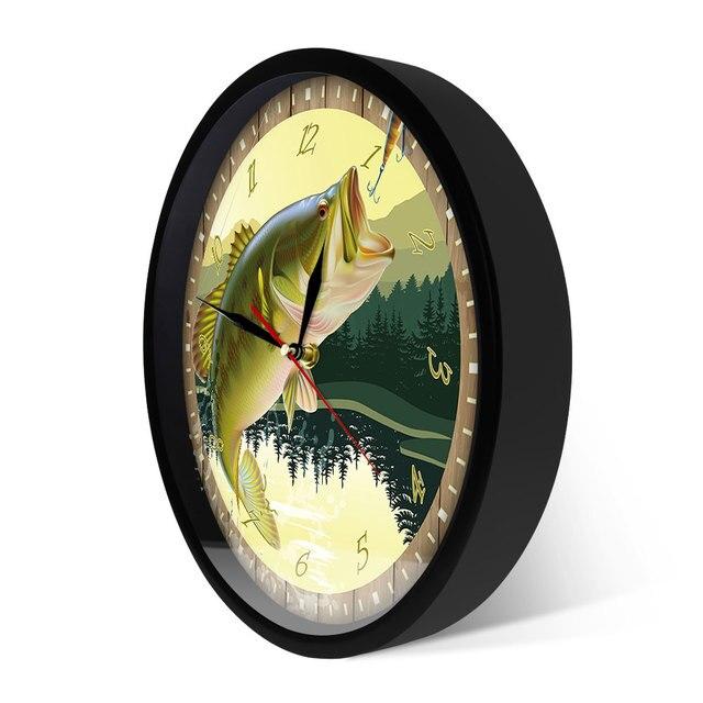 Trout Fisherman Wall Clock 6
