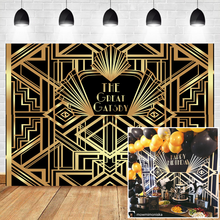 NeoBack The Great Gatsby Backdrops Gatsby Happy Birthday Party Banner Decoration Photography Backdrops Studio Shoots