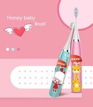 Прямая поставка w9 Детская электрическая зубная щетка с мультяшным