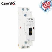 GEYA GYHC модульный контактор 2P 16A 20A 25A 2NO или 2NC 220V ручное управление бытовой контактор на din-рейке