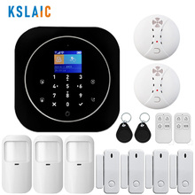 лучшая цена Wireless Home Security Wifi GSM Alarm System RFID LCD Keypad Autodial Siren Sensor Kit Tuya Smart App Control Motion Detector