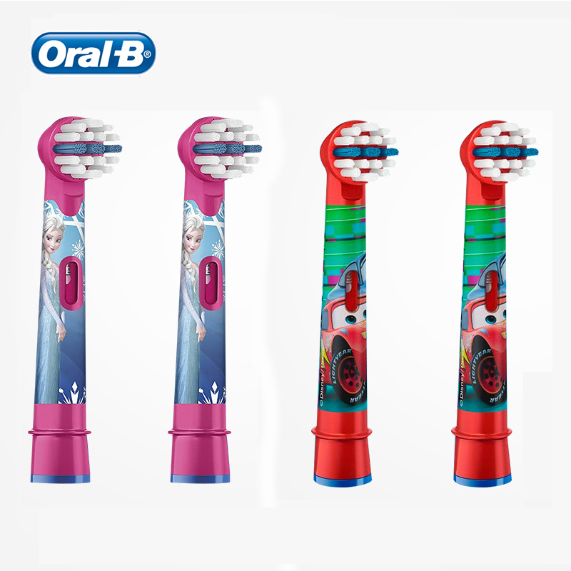 Oral B Kids Replacement Brush Heads Soft Bristle Refill for Oral B Kids Electric Toothbrush Different Disney Colors 4 Pcs image