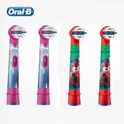 Oral B dzieci wymienne główki do szczoteczki miękkie włosie wkład do Oral B dzieci elektryczne szczoteczki do zębów szczoteczka do różnych Disney kolory 4 sztuk w Wymienne końcówki do szczoteczki od AGD na