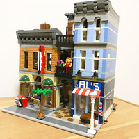 15011 City Street Series The Detective's Office Set Detective Agency Assemble Building Blocks 2262pcs Bricks Toys Gift 10246