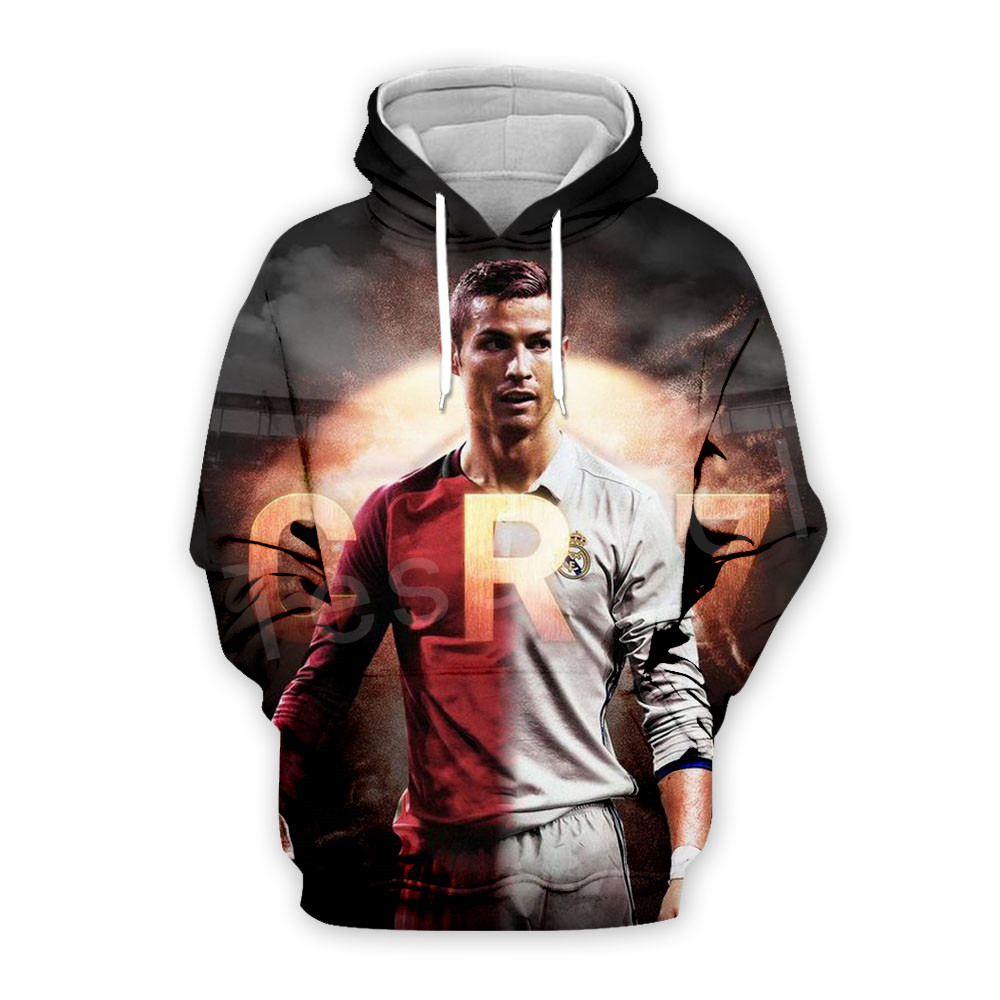 Tessffel Cristiano Ronaldo Athletes Fitness Pullover NewFashion 3DPrint Unisex Zipper/Hoodies/Sweatshirts/Jacket/Mens Womens s16