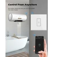 Tuya Smart Life-interruptor calentador de agua con WiFi, 4400W, aplicación remota, temporizador de encendido y apagado, Control por voz, Alexa, Google Home