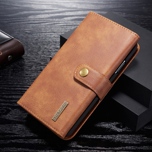 купить For Apple iPhone 11 Pro Max Genuine Leather Flip Case Magnetic Detachable Wallet Slot Stand For Apple iPhone X XR XS Max Cover дешево