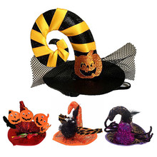 Cat Costume Patry-Dress Halloween-Decoration Spider Dog Funny Small Cap Hat Pumpkin