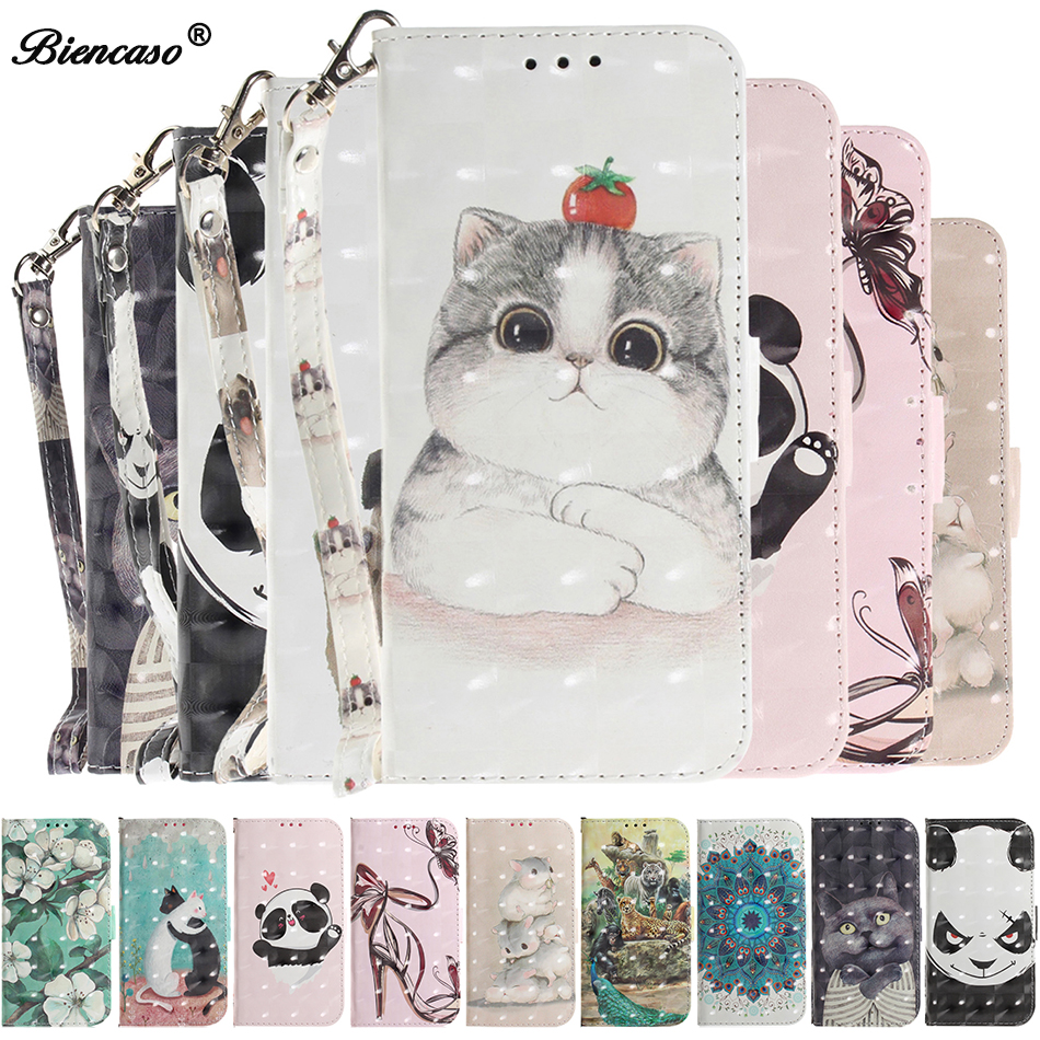 Stand <font><b>Case</b></font> for <font><b>Huawei</b></font> Y5 2018 Y6 <font><b>2019</b></font> <font><b>Y7</b></font> Honor 8X Mate 20 X P30 lite P20 Pro Cute Cat Handbag Nova 3 4 <font><b>Cover</b></font> Honor 7S Play 8A 7S image