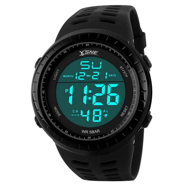 Men Sports Watches Fashion Chronos Countdown Men's Waterproof LED Digital Watch Man Military Clock Relogio Masculino 1