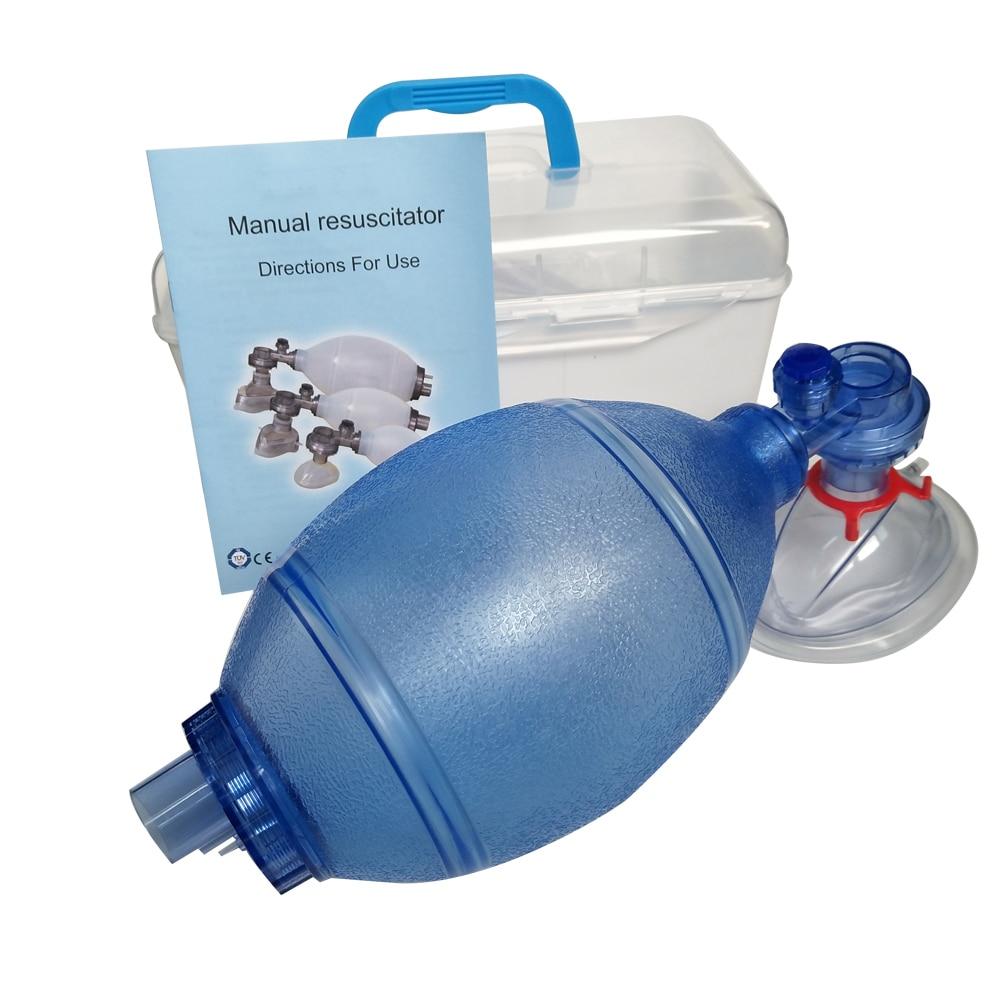 Silica Gel Adult Manual Simple Breathing Apparatus Resuscitator Ambu Bag First Aid Kit Tools Oxygen Machine