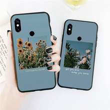 Sunflower flower landscape Art Phone Case For Xiaomi Redmi Note 4 4x 5 6 7 8 pro S2 PLUS 6A PRO(China)