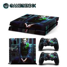 GAMEGENIXX Skin Sticker Protective Decal Cover for PS4 Console and 2 Controllers - The Joker(China)