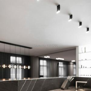 Image 3 - 1PCS LED Surface Mounted Downlight Spotlight 12W Black White Rotatable 3000K 4000K 6000K Home Lamp Adjustable Ceiling Spot Light