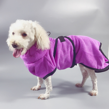 Pet Bathrobe Thickened Microfiber Super Absorbent Dog Bath Towel for Small Medium Large Dogs Clean Supply-XS-XL Size
