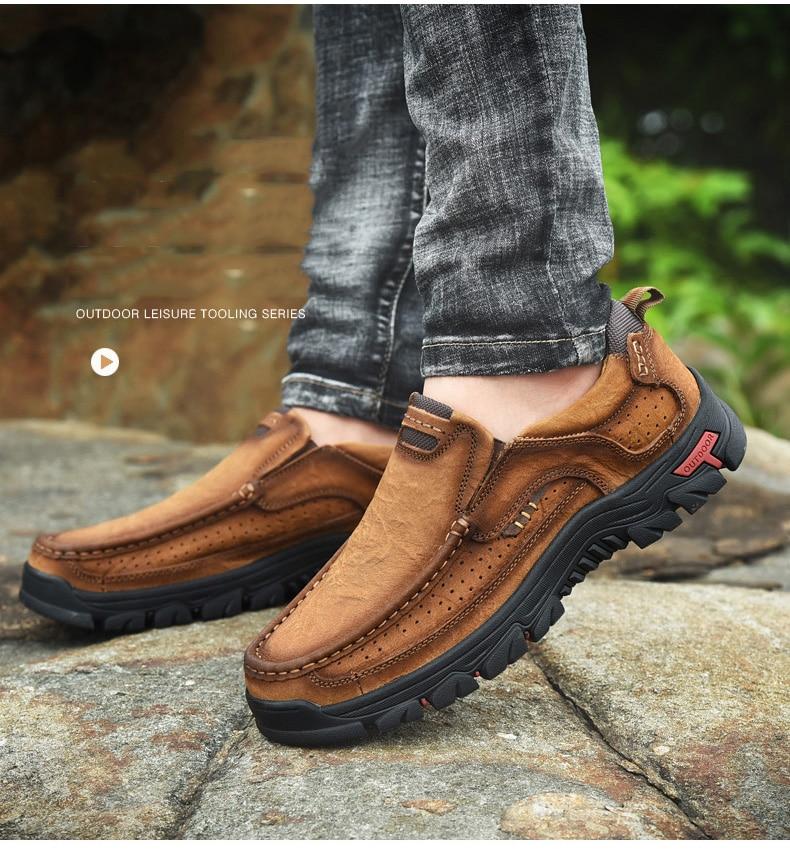 Hb84780c76d4d42008844709992650272k Men Casual Shoes Sneakers 2019 New High Quality Vintage 100% Genuine Leather Shoes Men Cow Leather Flats Leather Shoes Men