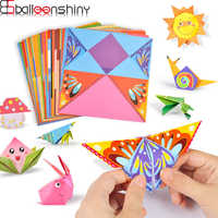 BalleenShiny Baby Toys 3D 54Pages Origami Cartoon Animal Book Toy Kids DIY Paper Art Baby Early Learning Education Toys Gifts