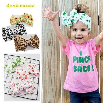 2020 Adjustable Big Bow Headwrap Baby Headband Top Knot Headbands Diy Hair Turban Newborn Head Band Girl Floral Bows