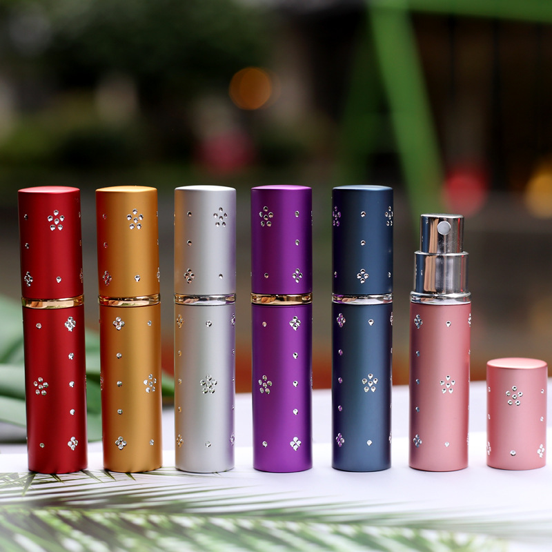 5ml Portable Mini Refillable Perfume Spray Bottle Aluminum Atomizer Spray Bottle Travel Container Perfume Bottle