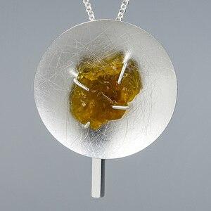 Image 4 - Lotus Fun collar redondo con colgante de piedras preciosas naturales, joyería fina Original, con personalidad