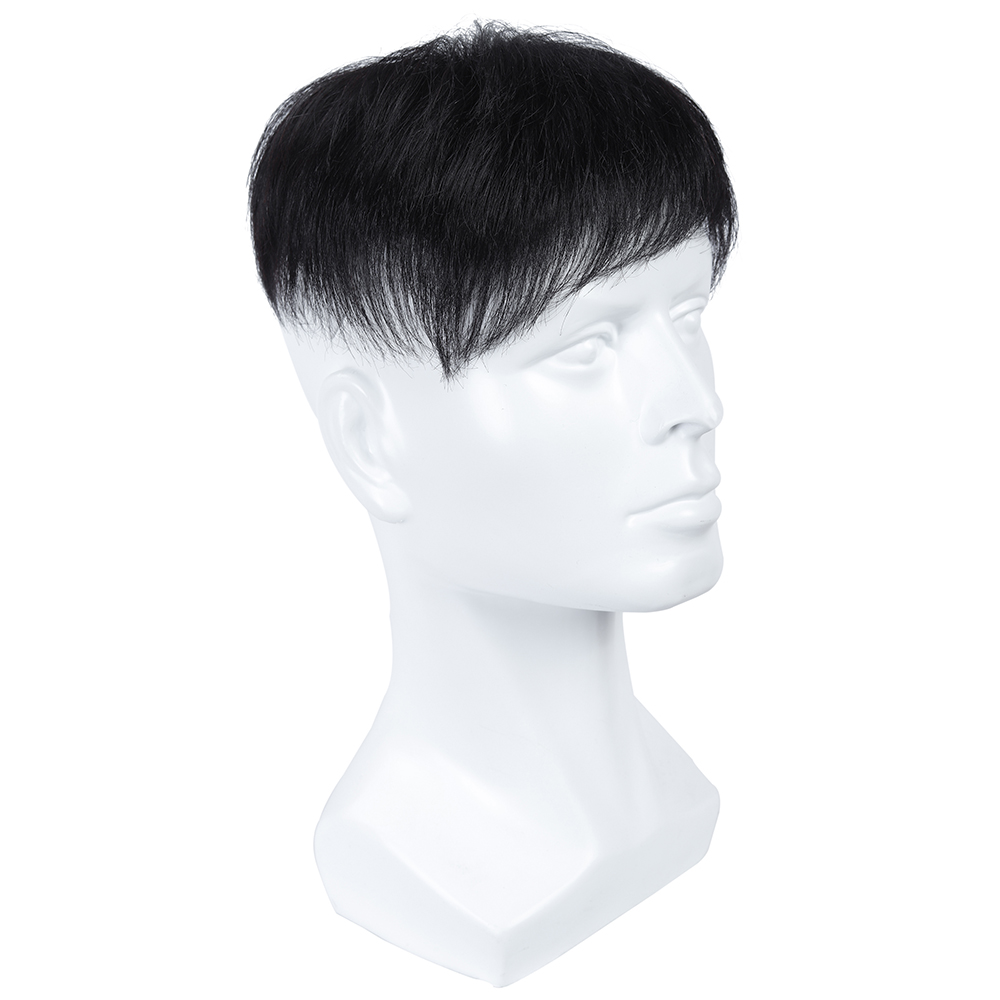 Remy Durable Hairpieces Men Hair Toupees 4'' Mono&PU Replacement System Indian Hair 100% Human Hair Colored Stylisted