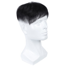 Remy Durable Hairpieces Men Hair Toupees 4'' Mono&PU Replacement System Indian Hair 100% Human Hair Colored Stylisted(China)