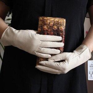 Image 2 - ถุงมือหนังแพะผู้หญิงฤดูใบไม้ผลิบางเรยอนซับหนังสไตล์ Repair Hand ฤดูร้อน sheepskin ขับรถถุงมือ