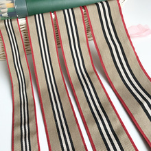 New style light silk color stripe computer jacquard Color Ribbon clothing accessories can be customized