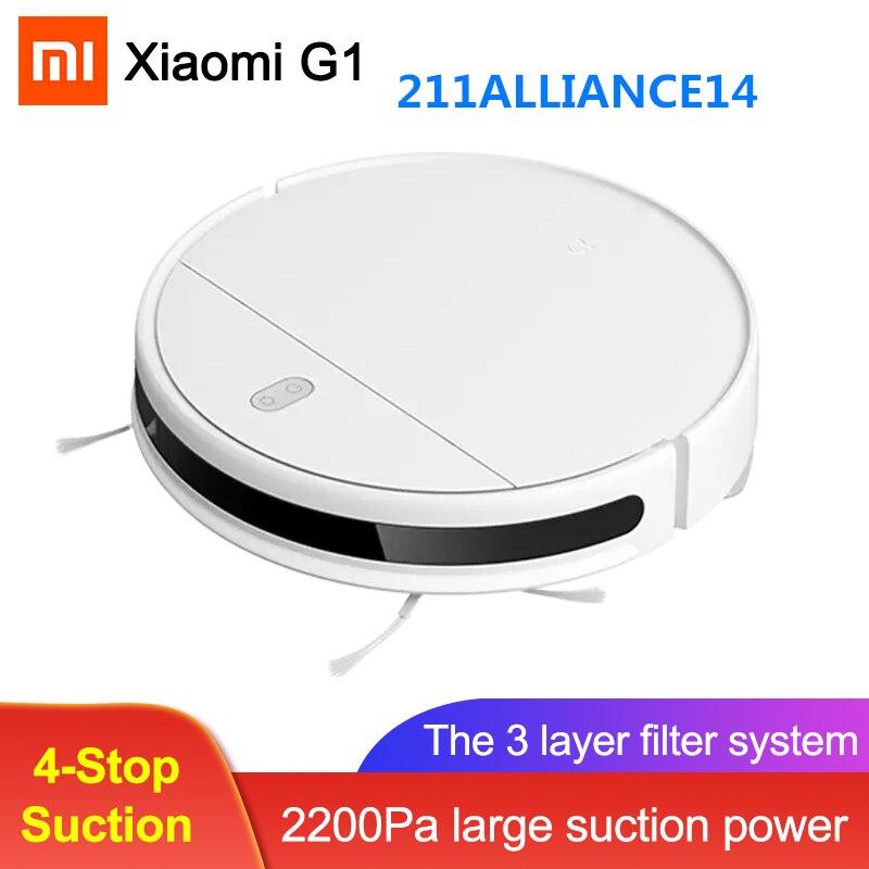 2020 Xiaomi Mijia G1 робот-пылесос влажной уборки пыли стерилизовать приложение Smart Control развертки Швабра пылесос MJSTG1 Быстрая доставка