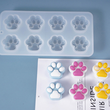 Mold Candle-Making-Tool Silicone Soap-Form Plaster Dog-Footprints-Soap 8-Cavity DIY Spa