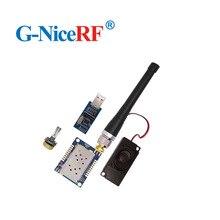 2 個 SA828 1 ワット出力電力オーディオ rf 送信機と受信機モジュール 134 174 mhz 30dBm トランシーバーモジュール