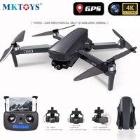 MKTOYS GPS Drone 4K RC Quadcopter con fotocamera 3 assi anti-vibrazione Gimbal 5G Wifi seguimi RTH Brushless FPV Dron VS FIMI SG908